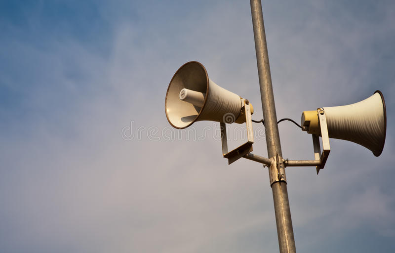 Altavoz ruidoso del claxon foto de archivo libre de regalías