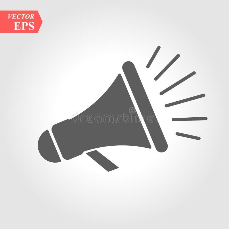 Altavoz ruidoso - iconos del carbono Un profesional, icono pixel-alineado stock de ilustración
