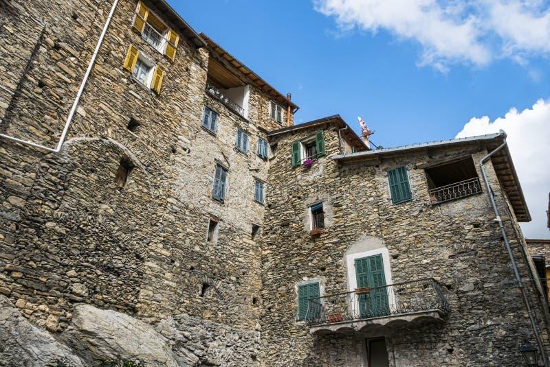 Altbau in Triora Italien lizenzfreies stockbild
