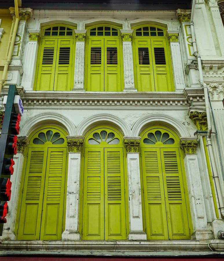 Altbauten in Chinatown, Singapur lizenzfreie stockfotos