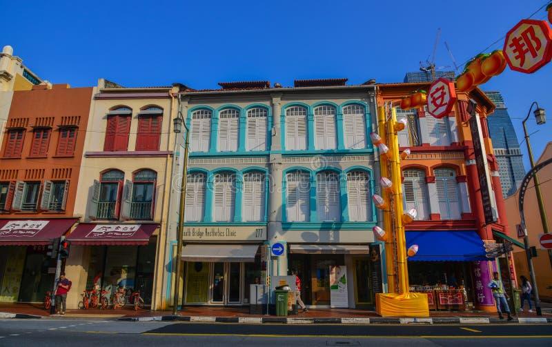 Altbauten gelegen in Chinatown stockfoto