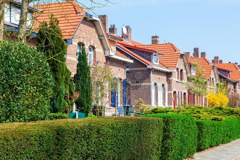 Altbauten in Heerlen, die Niederlande stockbild