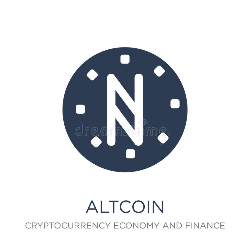 Altcoin icon. Trendy flat vector Altcoin icon on white background from Cryptocurrency economy and finance collection vector illustration