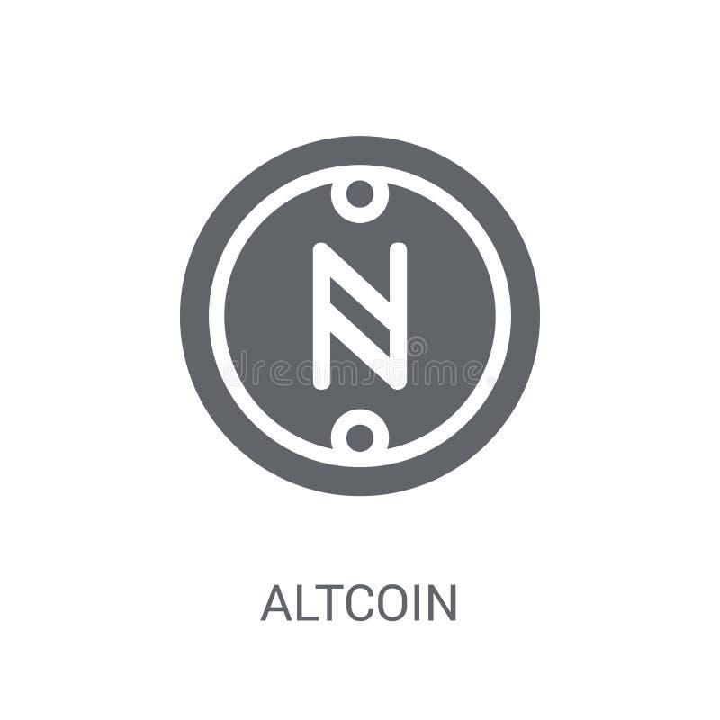 Altcoin symbol Moderiktigt Altcoin logobegrepp på vit bakgrund fr stock illustrationer