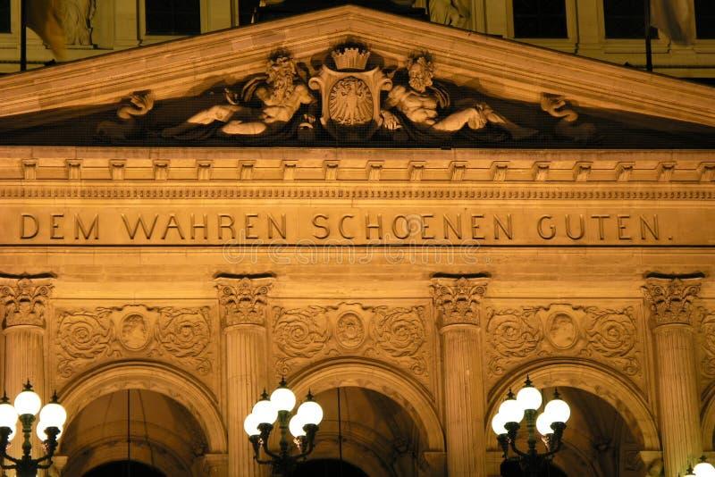 alte Φρανκφούρτη oper στοκ εικόνα με δικαίωμα ελεύθερης χρήσης
