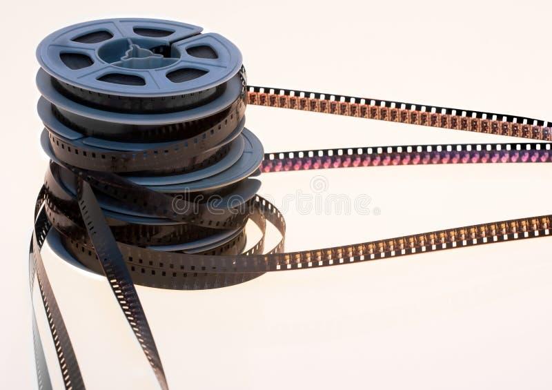 Alte 8mm Filmbandspulen stockbilder
