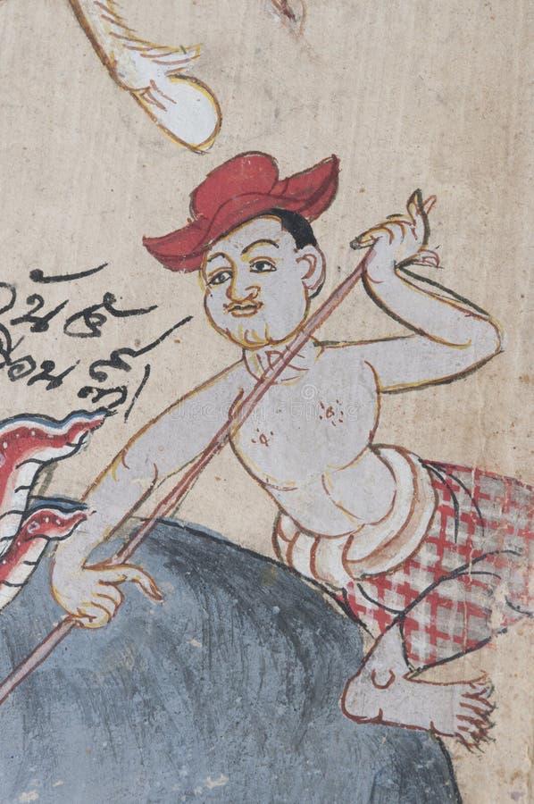 Alte Abbildung von Thailand - Mann stockbild