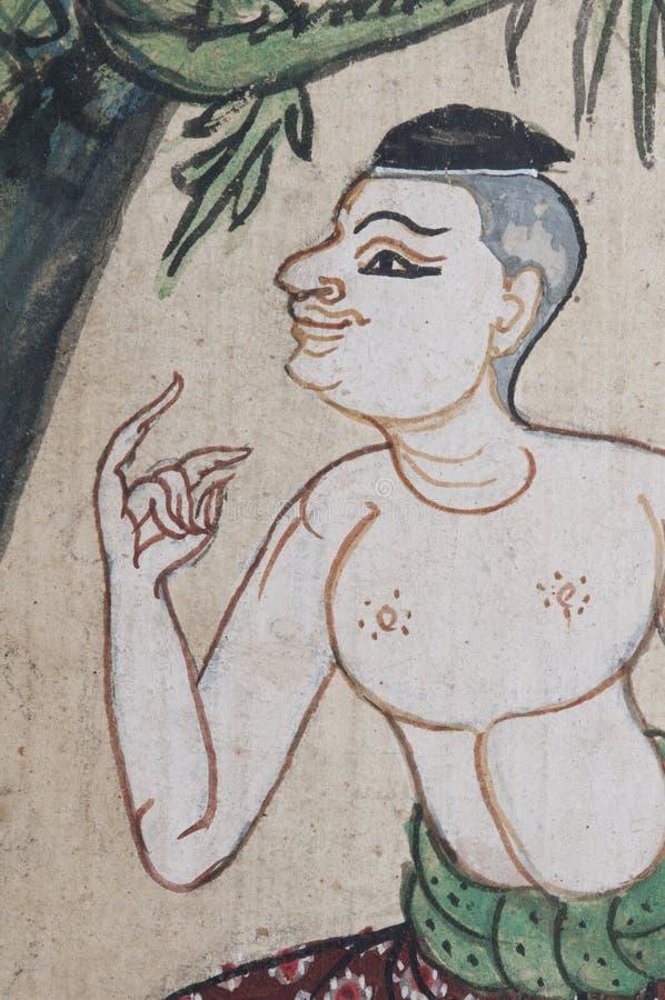 Alte Abbildung von Thailand - siamesischer Mann stockbilder