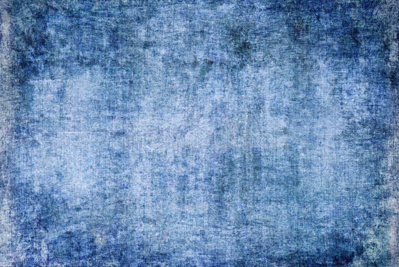 Alte abstrakte Segeltuch-Malerei-blaues gebrochenes Rusty Distorted Grunge Dark Decay-Beschaffenheits-Muster Autumn Background Wa lizenzfreie stockfotos