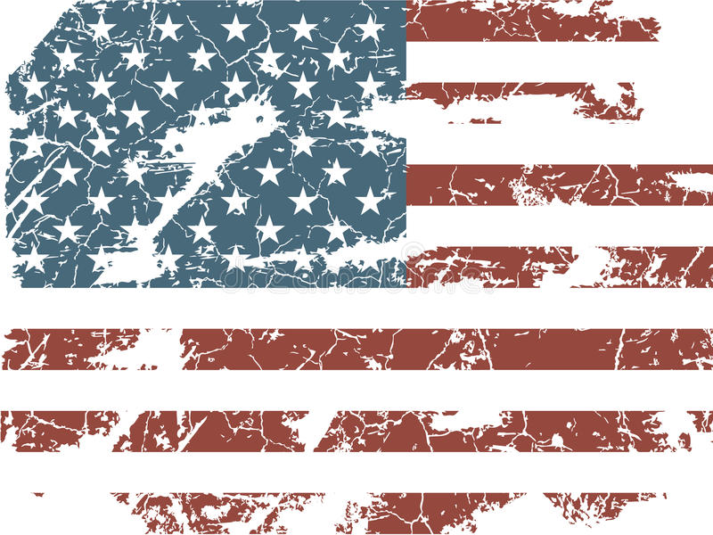 Alte amerikanische Flagge lizenzfreie abbildung