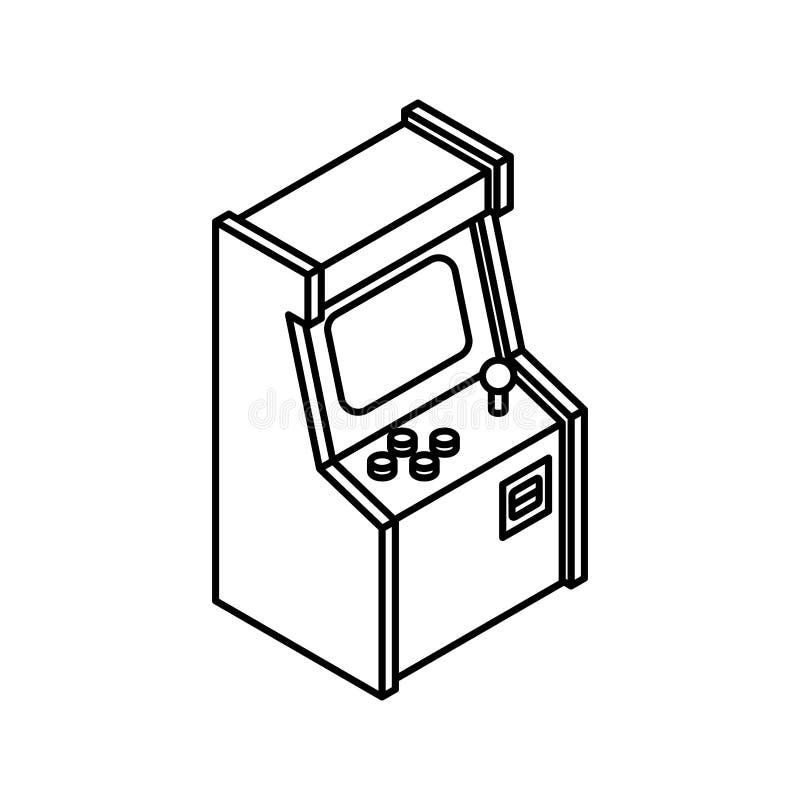 Alte Arcade Machine Gaming-Ikone Retro- Videospielspiel lizenzfreie abbildung