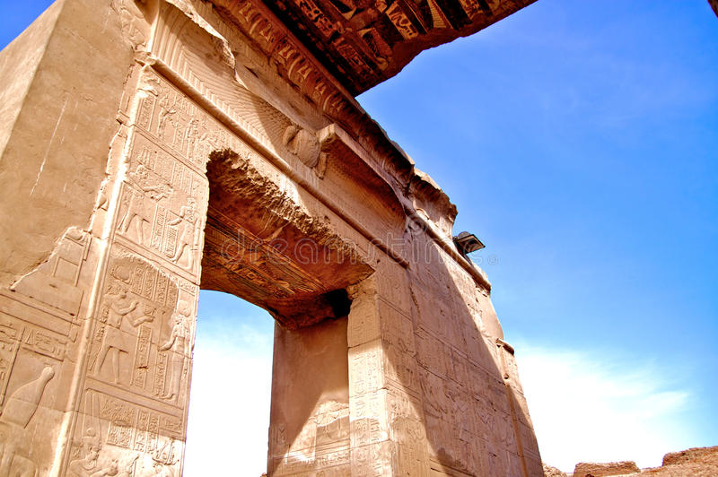 Alte Architektur in Ägypten stockfoto