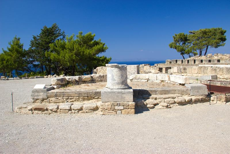 Alte Architektur Kamiros Rhodos Griechenland historisch lizenzfreies stockbild