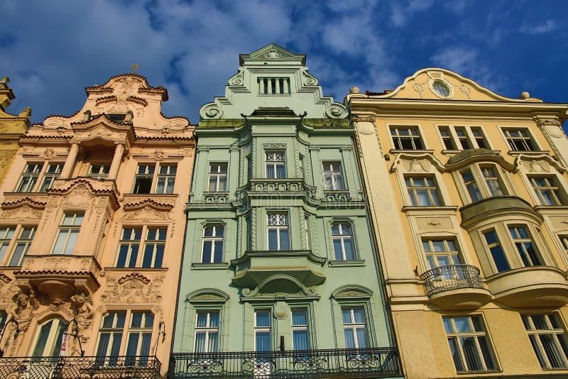 Alte Architektur, Pilsen, Tschechische Republik stockbild