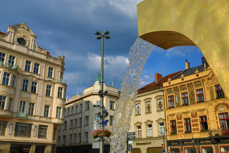 Alte Architektur, Pilsen, Tschechische Republik lizenzfreie stockbilder