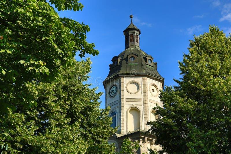 Alte Architektur, Pilsen, Tschechische Republik lizenzfreies stockbild