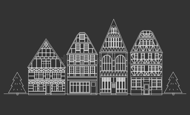 Alte Architektur von Deutschland stock abbildung