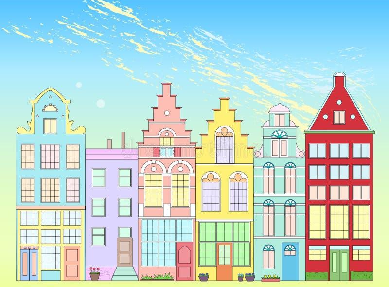 Alte Architektur von Holland vektor abbildung