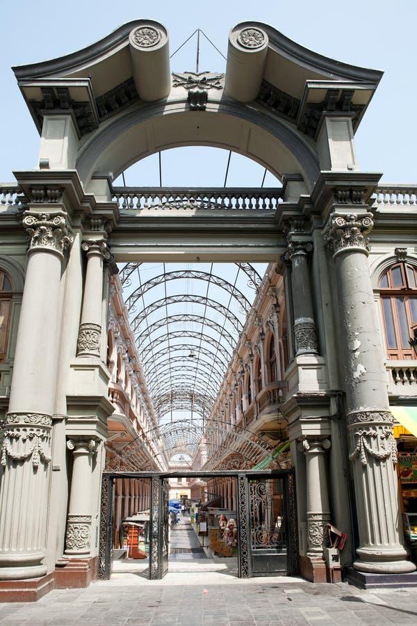 Alte Architektur von Lima, Peru. stockbild