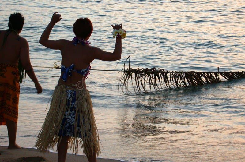 Download Alte Art-Fischen Hawaii stockbild. Bild von tropen, strand - 42787