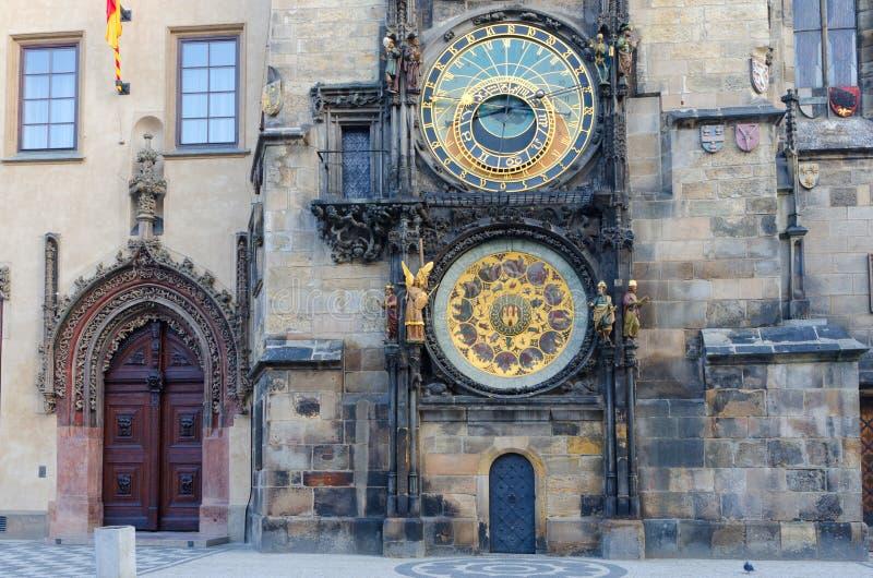 Alte astronomische Borduhr, alter Rathausplatz, Prag lizenzfreies stockbild