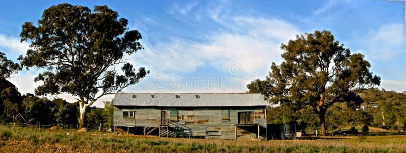 Alte australische Schafhalle stockfotografie