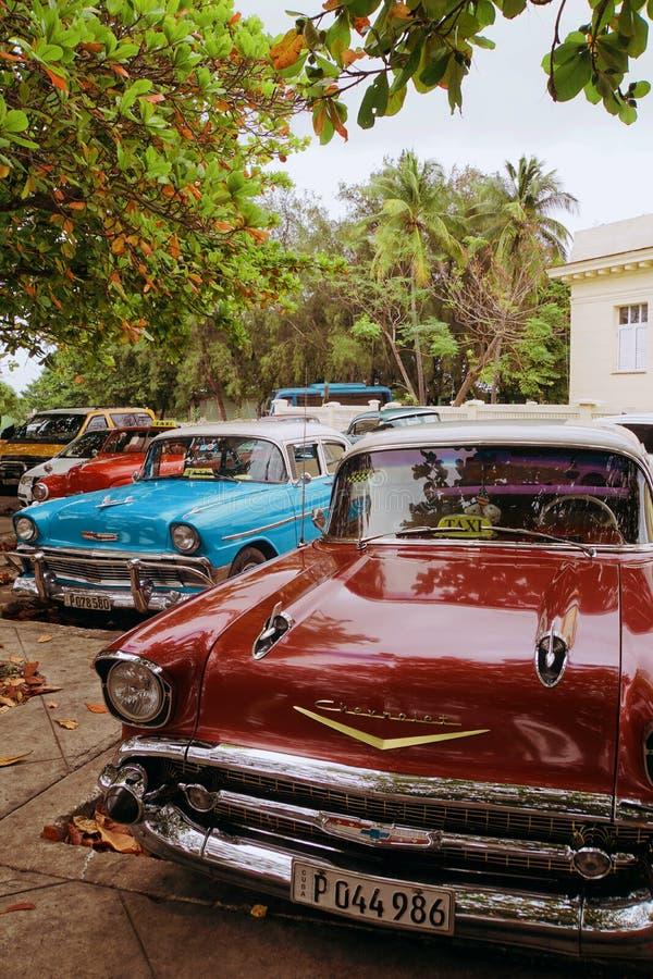 Alte Autos von Havana lizenzfreies stockfoto