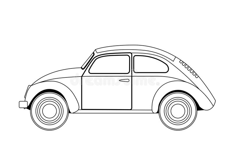 alte autoskizze vektor abbildung illustration von retro