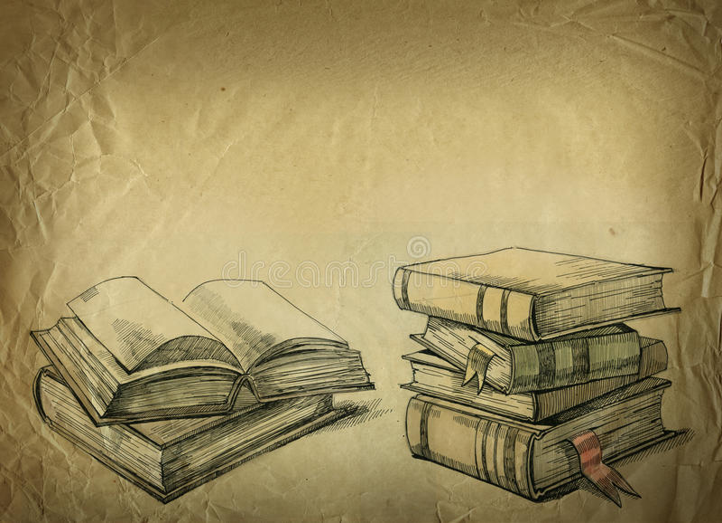 Alte Bücher vektor abbildung