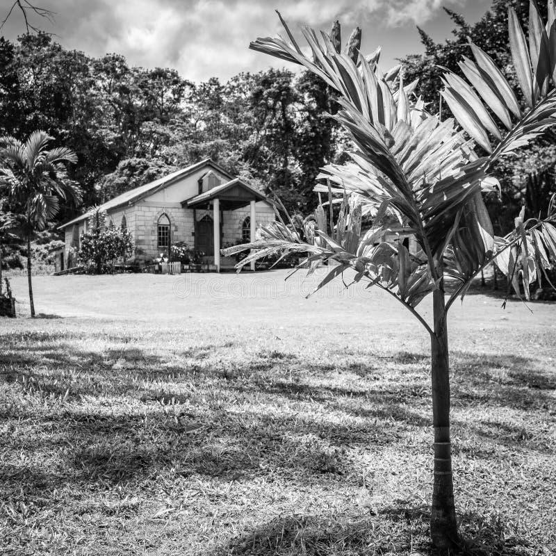 Alte Backsteinmauer Kirche in Jamaika stockfotografie