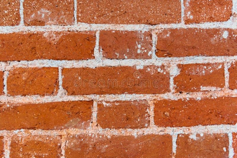 Alte Backsteinmauerbeschaffenheit des roten Steins blockiert Nahaufnahme lizenzfreie stockfotos