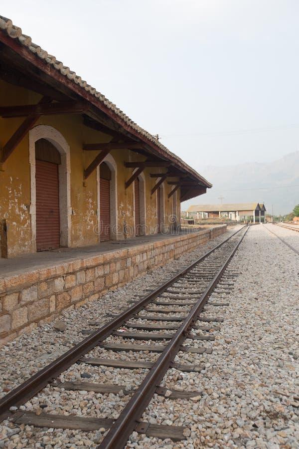 Alte Bahnstation in China lizenzfreies stockbild
