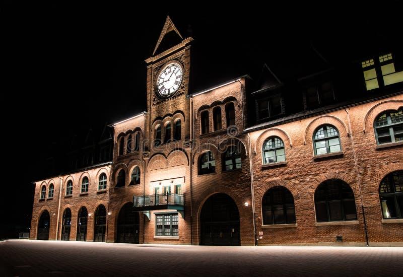 Alte Bahnstation in Jersey City, NJ stockfoto