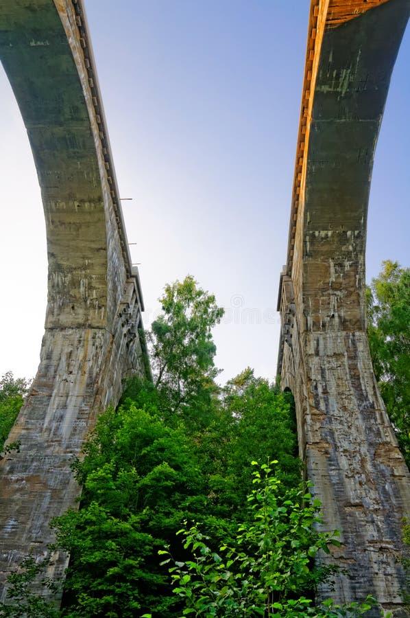 Alte Bahnviadukte in Stanczyki stockbilder