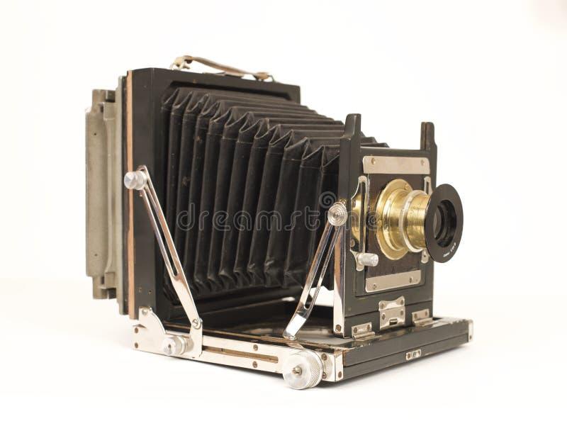 Alte Balgkamera stockbilder