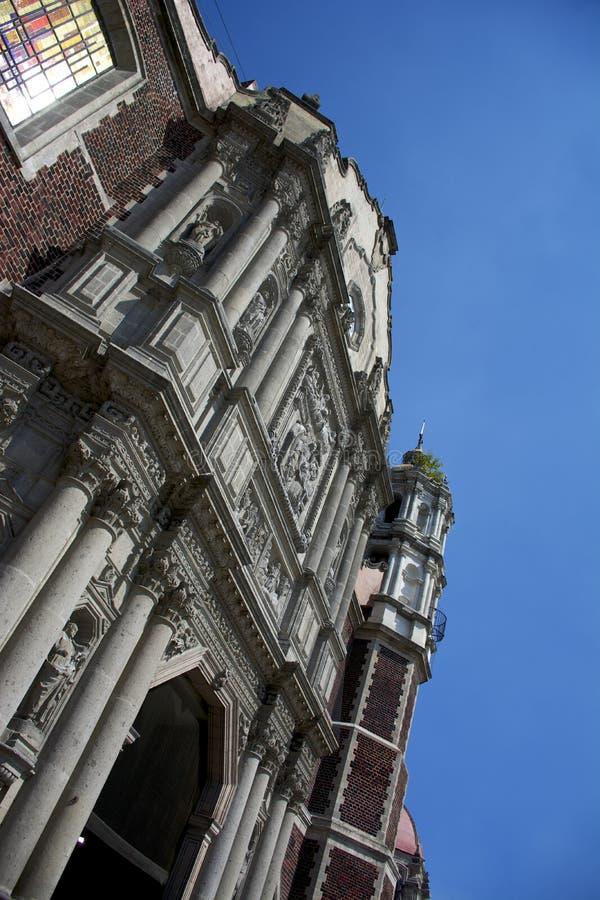 Alte Basilika unserer Dame von Guadalupe lizenzfreie stockfotos