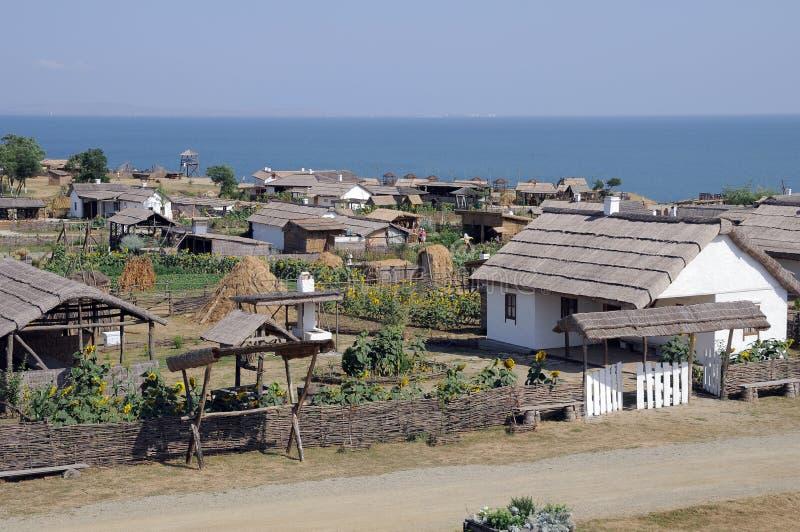Alte Behausung der Kuban-Kosaken. lizenzfreies stockfoto