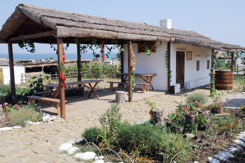 Alte Behausung der Kuban-Kosaken. stockbilder