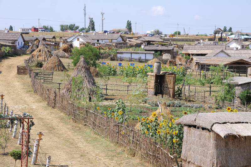 Alte Behausung der Kuban-Kosaken. stockfotos