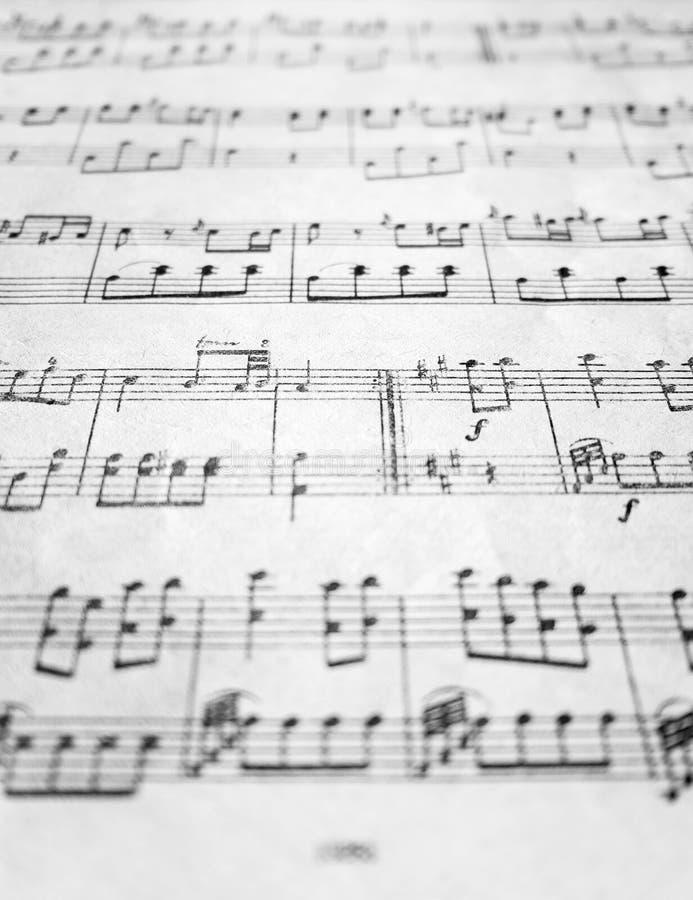 Alte Blattmusik lizenzfreie stockbilder