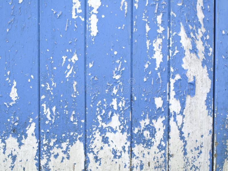 Alte blaue Planken stockbild
