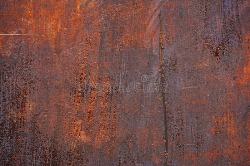 Alte Blechtafel des Eisens mit Rost Zusammenfassungshintergrund stockfotos