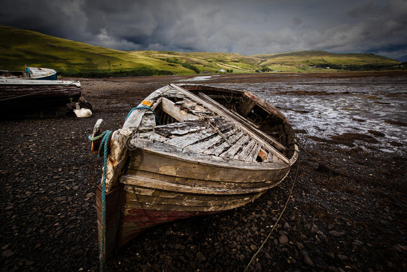 Alte Boote lizenzfreie stockfotos