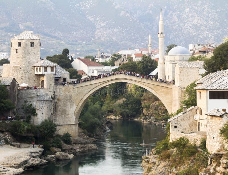 Alte Brücke in Mostar stockfoto