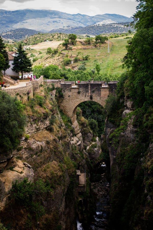 Alte Brücke Ronda stockfotografie