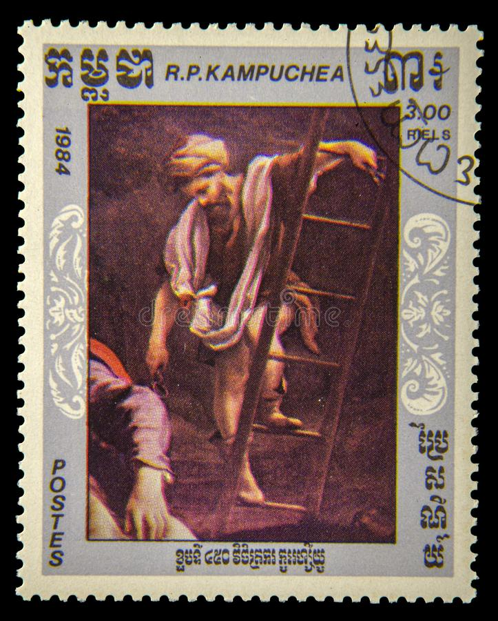 Alte Briefmarke stockbilder