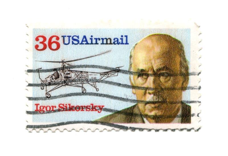 Alte Briefmarke Cent vom USA-6 lizenzfreie stockfotografie