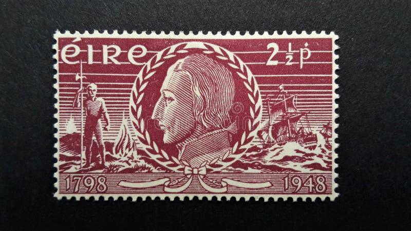 Alte Briefmarke Irland, EIRE 2 1/2p stockfotografie