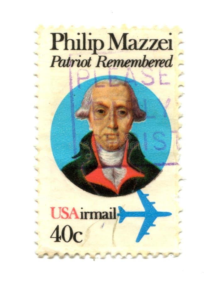 Alte Briefmarke von USA 40 Cents lizenzfreie stockfotos