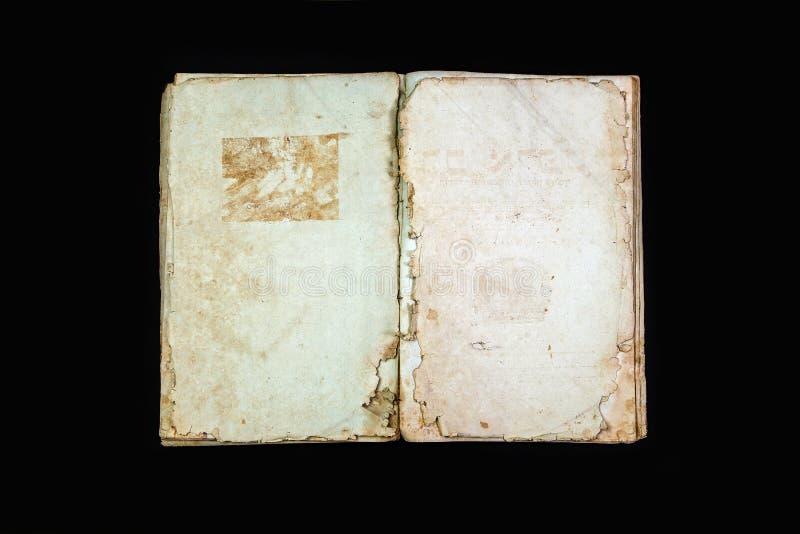 Alte Bucheinband-Weinlesebeschaffenheit lokalisierte verbindlichen Papierbuchstaben Yid des schwarzen Manuskriptes des Hintergrun lizenzfreie stockfotos